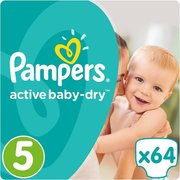 Pampers подгузники Active Baby-Dry 11-16 кг (64 шт) фото