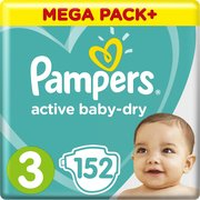 Pampers подгузники Active Baby-Dry 6-10 кг (152 шт) фото