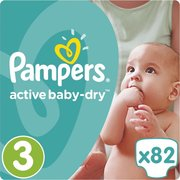 Pampers подгузники Active Baby-Dry 6-10 кг (82 шт) фото