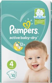 Pampers подгузники Active Baby-Dry 9-14 кг (10 шт) фото